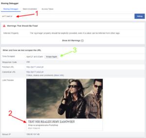 Sharing Debugger Facebook for Developers