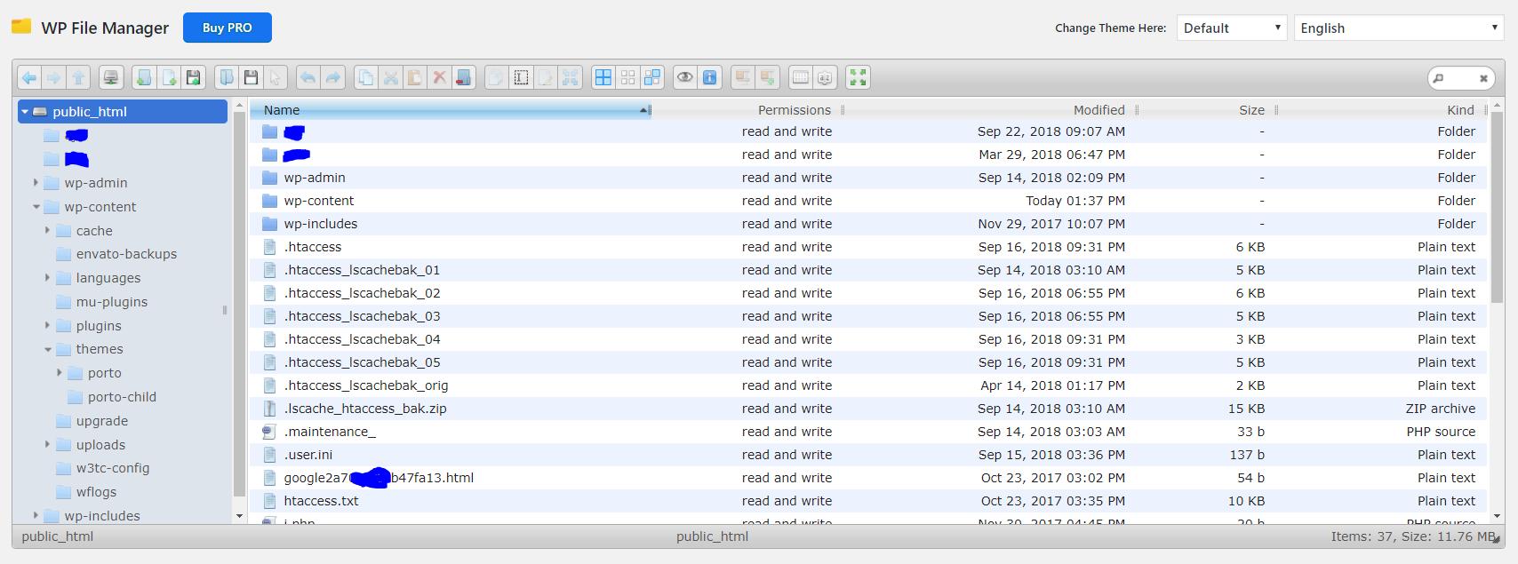 Wygląd WP File Manager